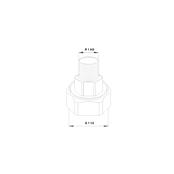 Резьбовое трубное соединение (комплект) G 1 ½ × R 1 AG Чугун