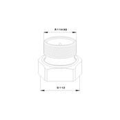 Резьбовое трубное соединение (комплект) G 1 ½ × R 1 ¼ AG Чугун