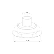Трубное соединение для пайки (комплект) G 1 ½ × 18 мм Латунь