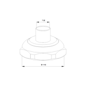 Трубное соединение для пайки (комплект) G 1 ½ × 22 мм Латунь